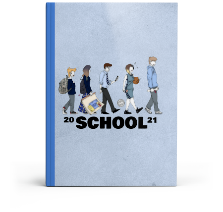 Yearbook cover design for schools, colleges, universities and businesses